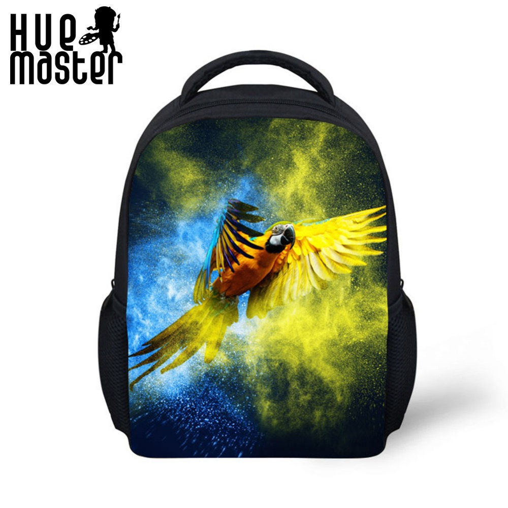 Backpacks Parrot Travel Polyester High-Quality 12inch Shoulder-Bags Child Student Front-View