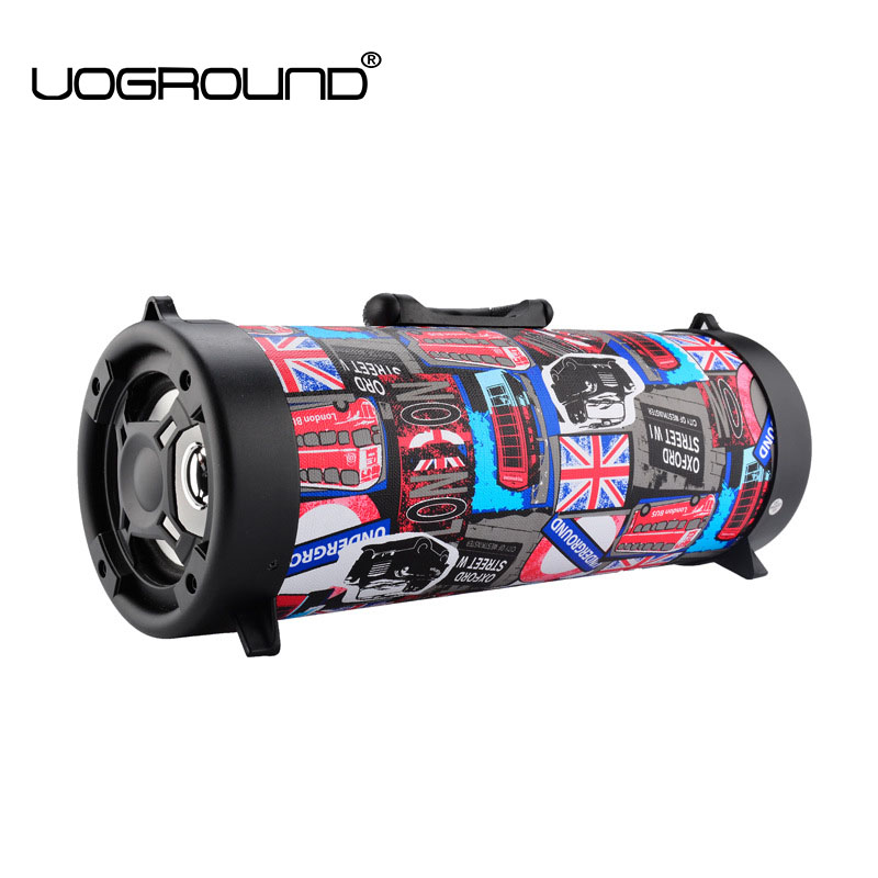 Big Power 15W Cool Graffiti Hip Hop Style Bluetooth Speaker Portable Wireless Outdoor Subwoofer Speaker Support Mic/TF Card bt800 mini wireless bluetooth subwoofer speaker w mic fm tf card slot black