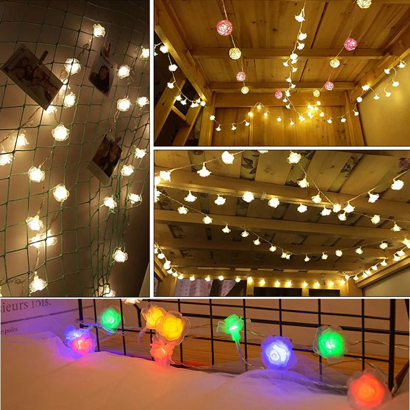 10M 100 Bulbs Garland Lights LED String Christmas Fairy Lights Decoration For Holiday Party Wedding Home Bedroom Lighting Chain in LED String from Lights Lighting