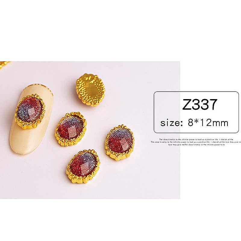 ネイルアートラインストーンカラフルな勾配フラットバッククリスタルシャイニーマーメイド 3D 宝石マニキュアネイルアートデコレーション装身具ステッカー