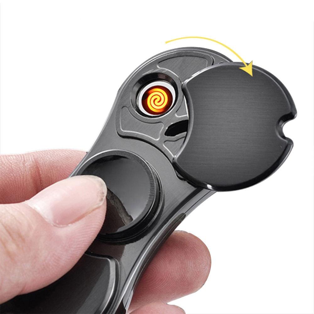 ONUOSS Hot Koop Fidget Spinner Type USB Aansteker 5 Kleuren sigaret - Huishouden