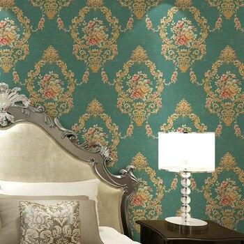Gran Venta Dormitorio Sala De Estar TV Mural Papel Tapiz Pared Pastoral Europea Empapelado No Tejido 3d Papel Tapiz Rollo De Papel De Parede