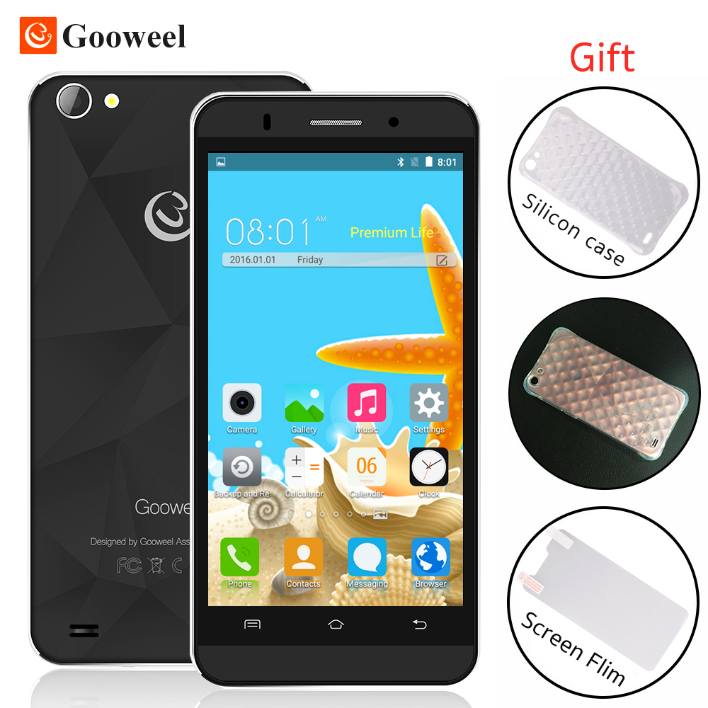 Free Gift Original Gooweel M5 Pro smartphone MTK6580 quad core 5 inch IPS screen mobile phone