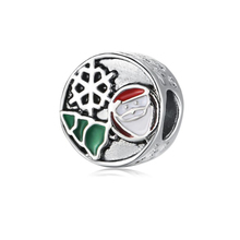 plata de ley 925 european green Mosaic Shining Elegance Spacer Clip diy bead Charm Bracelet beads  ENM605