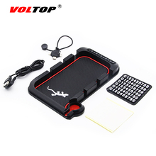 VOLTOP Car Anti-Slip Mat Auto Mobile Phone Charge Holder Non-slip Pad Parking Card Slot Debris Storage Box Dashboard Supplies
