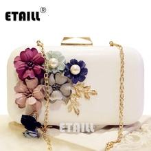 купить ETAILL Flower Crystal Evening Clutch Bags Clutches Lady Wedding Ladies Party Purse Rhinestones Wedding Handbags Bolsa Franja онлайн