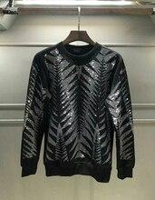 Yeni Euro Amerikan Moda Marka İnce Yuvarlak yaka Ütü Sıhhi Giyim Erkekler için Sonbahar ve Kış hoodies tişörtü