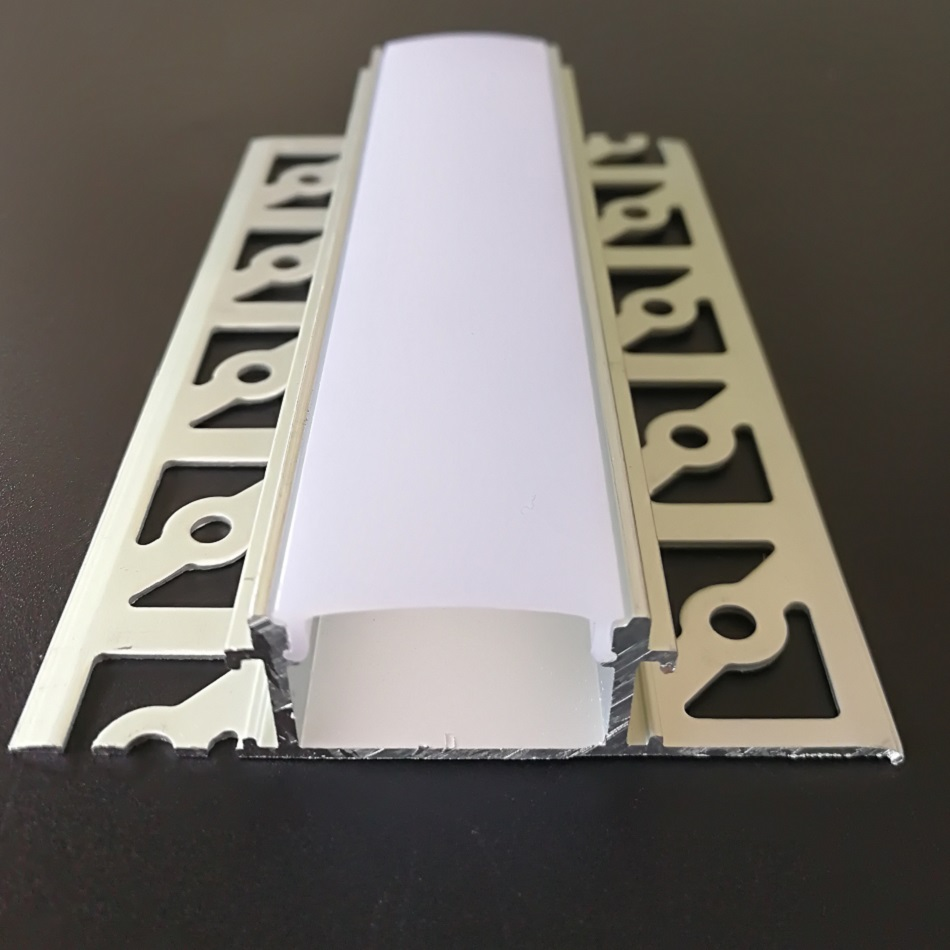 5/10/15Packs x 2m/pc Led aluminum channel , Aluminium Profile led for Architectural Gypsum Plaster Led strip SDW6114A-in LED Bar Lights from Lights & Lighting    1
