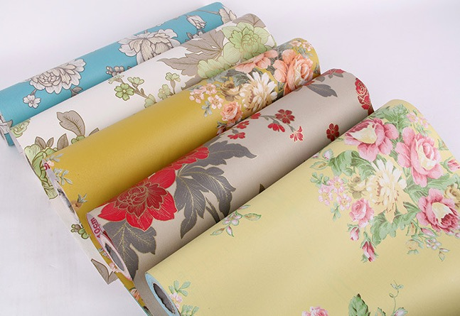 new papel de parede vinyl self adhesive floral wallpaper peel off and stick 3d wall sticker for in roll size 0.45*10m