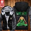 Новый цельный толстовки аниме обезьяна D луффи с капюшоном зимние пальто куртки мужчины кардиган толстовки