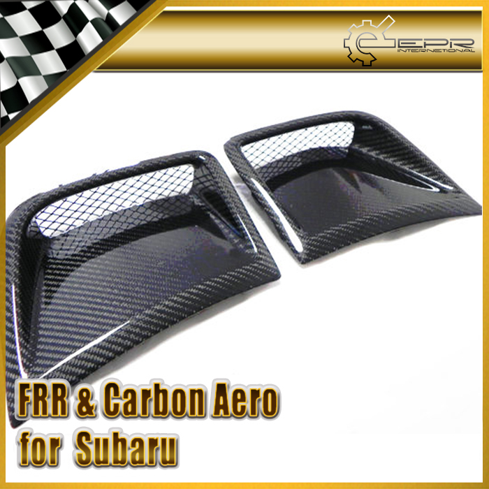 Car-styling For Subar Impreza GRB WRX 10 Hatch OEM Carbon Fiber Front Bumper Side Vent