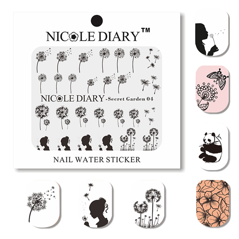 NICOLE DIARY Nail Art Water Decals Animals and Plants Stickers Design Tips Decoration Nail Art Water Tattoo 31205 the domestication and exploitation of plants and animals
