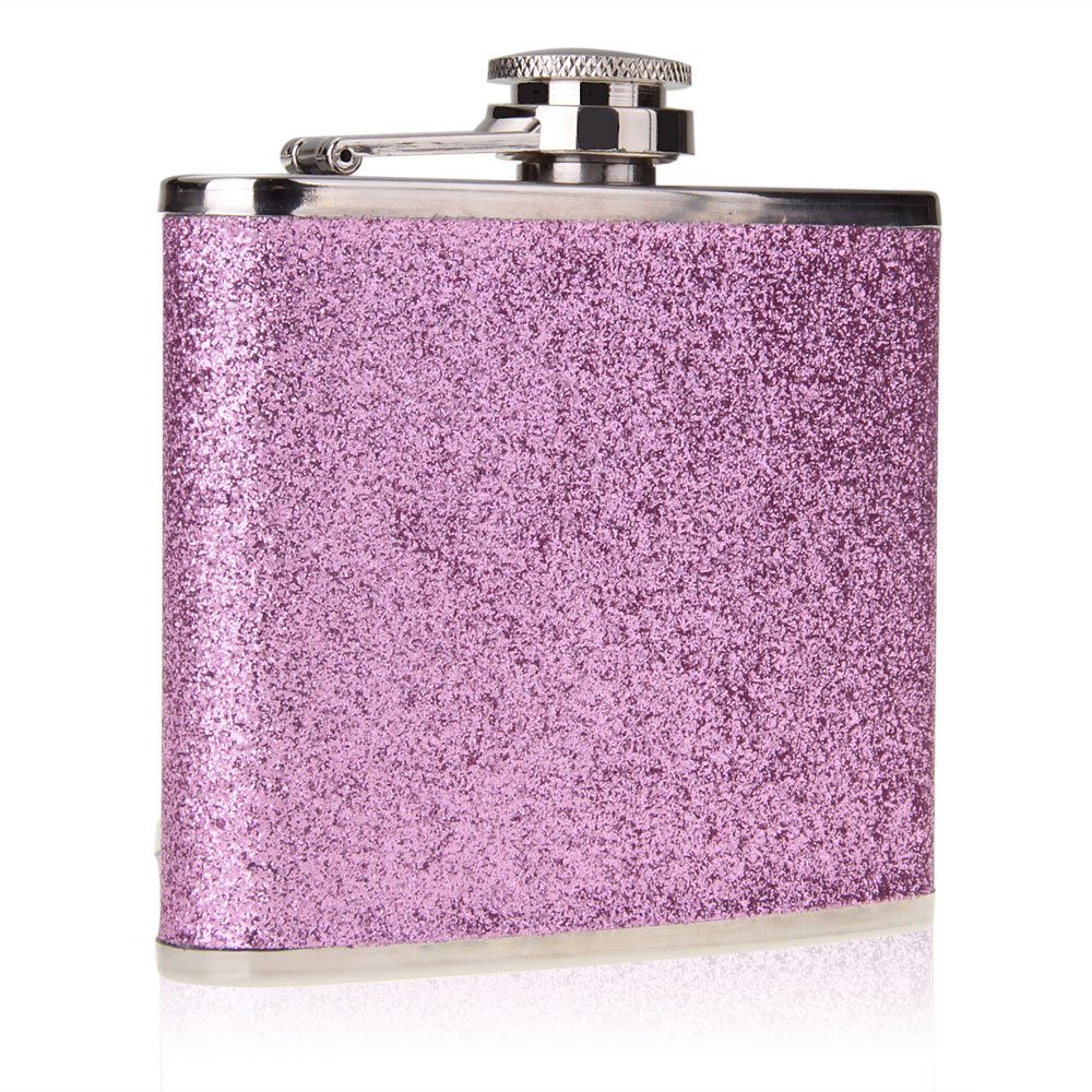 High Quality 5 Oz Stainless-Steel Alcohol Drink Liquor Wine Whisky Hip Flask Portable Purple Flagon Drinkware For Drinker