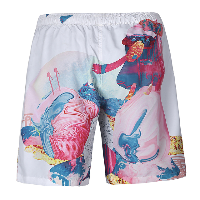 New 3D Board shorts boardshorts mens Quick drying surfshorts Print beach wear trunks Bermuda Sea Shorts