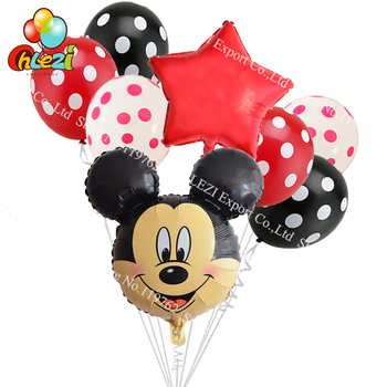 Balony urodzinowe Myszka Mickey Minnie 8 sztuk