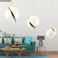 Modern Pendant Light For Lobby Dining Room Kitchen Island Home Arts Decoration Lighting Antique Gold Suspension