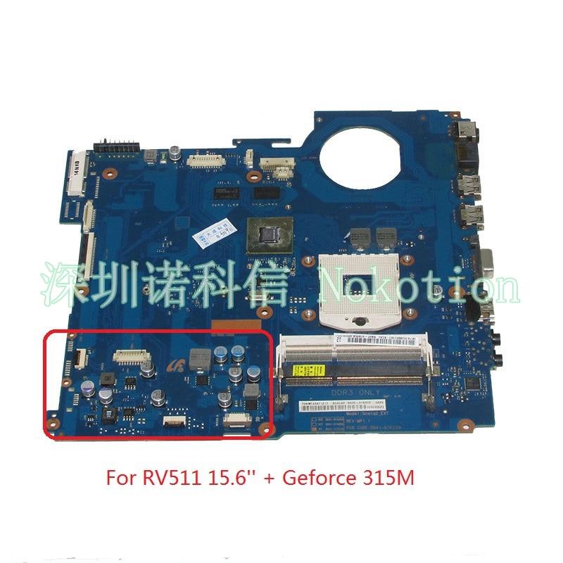 NOKOTION BA92-07405A BA92-07405B BA41-01423A carte Principale Pour Samsung RV511 15.6 Pouce mère d'ordinateur portable HM55 DDR3 Geforce 315 M