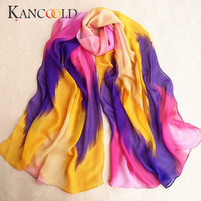 KANCOOLD   Scarf   Women Fashion Chinese Ink Style   Wrap   Lady Shawl Chiffon   Scarves   Print Autumn winter Casual   scarf   women 2018Nov1