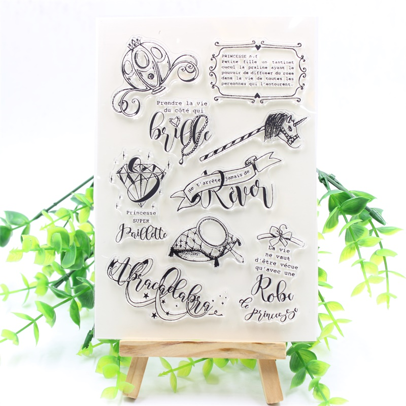YPP CRAFT French Transparent Clear Silicone Stamp for DIY Scrapbooking Planner/Card Making/Kids Crafts Fun Decoration Supplies