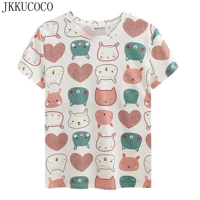 cd812f675 Camisetas-de-dibujos-animados-JKKUCOCO-con-estampado-de-conejo-camiseta -Casual-para-mujer-Camisetas-de-verano.jpg 640x640.jpg