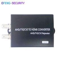TVI/AHD/CVBS/CVI to HDMI Converter Full HD 1080P Digital High Definition Video converter EU/US Power Plug Adapter For HDTV HD
