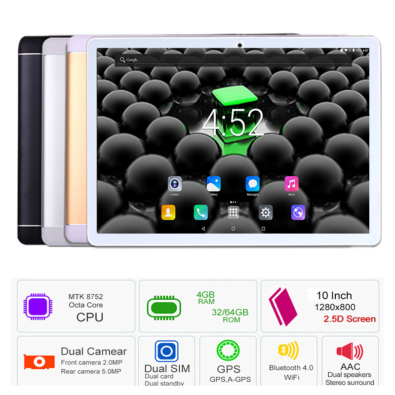 New Google play store 10 inch Android 8 0 Octa Core Tablets PC 4GB RAM 64GB