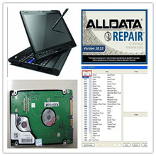 2017 newest auto repair software alldata 10.53 mitchell 2 softwares in 1000gb hdd installed well in x200t laptop (2g)!
