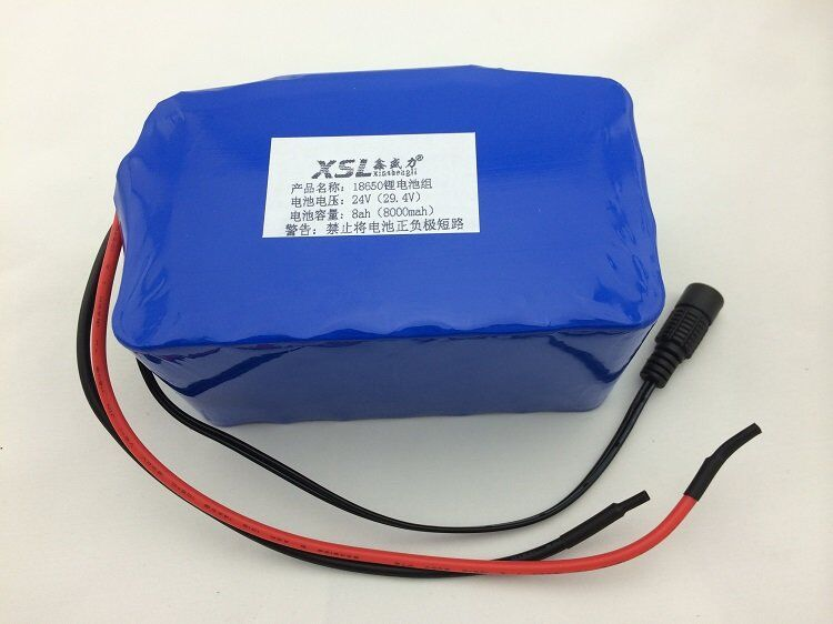 24V 8A 7S4P 18650 lithium battery 29.4V lithium ion battery pack used in electric moped / electric bicycle + free shipping 24v 7s4p 8000mah 8ah 18650 lithium battery for a small motor of the led lamps use a backup power electric bicycle batteries
