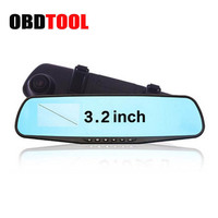Wide Angle Vehicle Traveling Data Recorder 3 2inch Blue Single Lens Car Camera Rearview Mirror Video