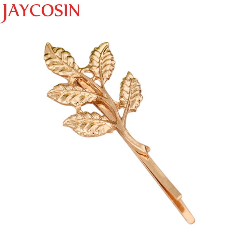 2017 Women Girl Hair Accessories Cuff Clip Jewelry Hairpin Female Xmas Gift Star Leaf drop Shipping L20 drop Shipping 2017 cat ears triangular leopard lattice acrylic hair grasping hairpin top clip summer headwear hair accessories for women girl