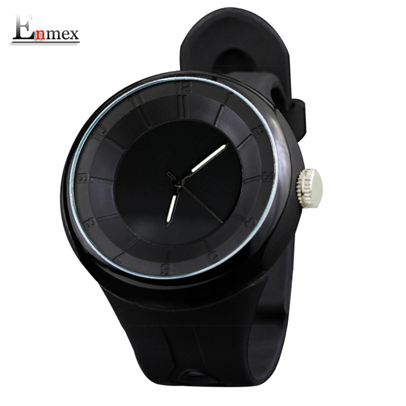 2016 men s gift Enmex 3D discs creative time code wristwatch waterproof design light sports casual