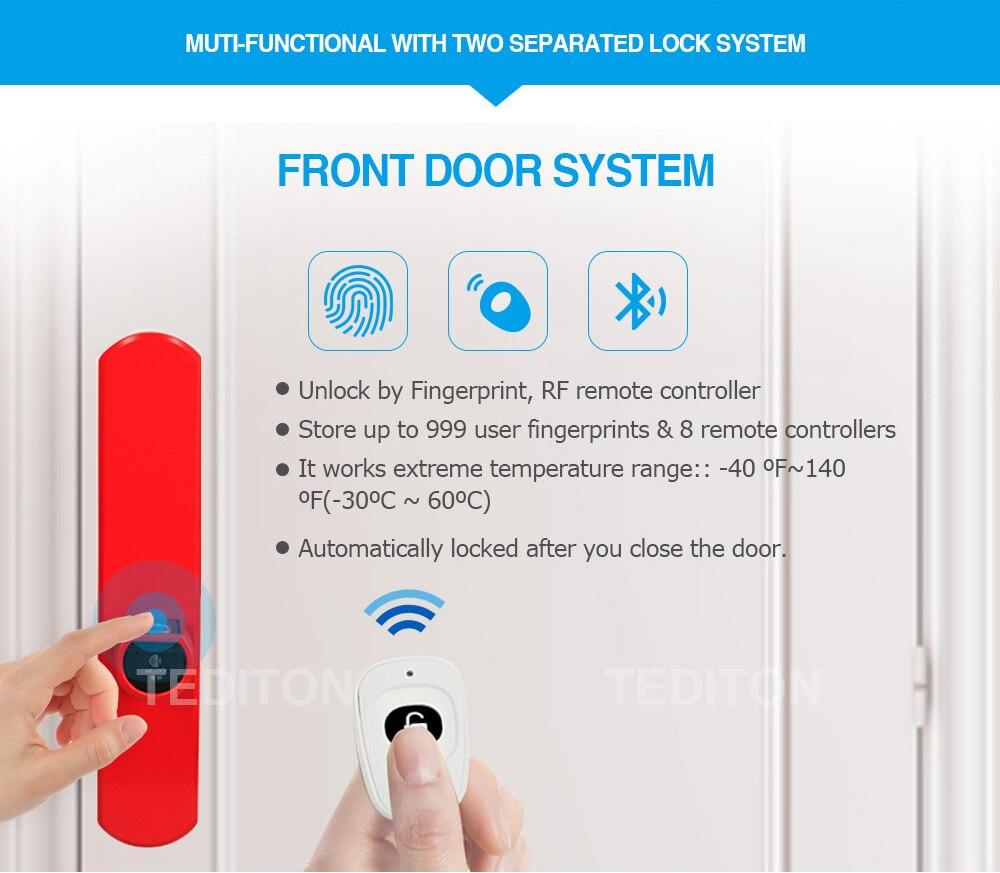 L5SR-Plus WELOCK Bluetooth APP Smart Lock Electronic Cylinder Outdoor Waterproof Keyless Biometric Fingerprint Scanner door lock