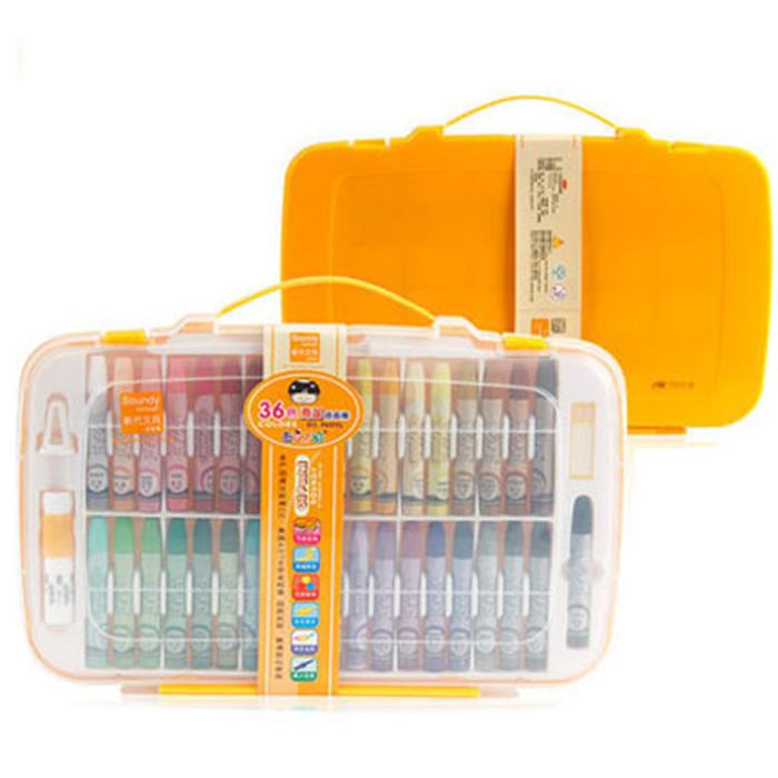 36 Colors/Set Oil Pastel Gouache Watercolor Drawing Paint Colored Pen Safe Non-toxic Children Crayons School Art Supplies
