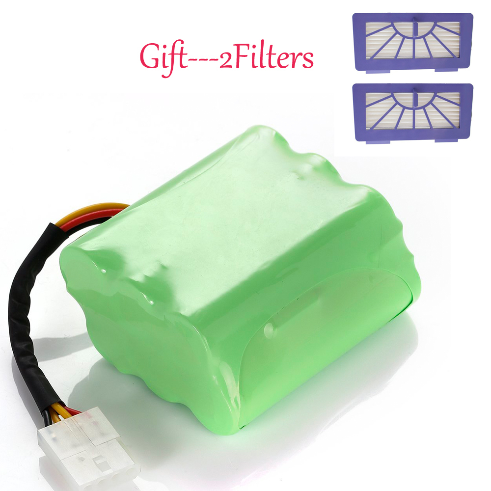 Neato XV-11 XV-12 XV-14 XV-15 XV-21 Vacuum Cleaner Battery 3500mAh + 2 HEPA Filters For Free Gift high quality 7 2v 3 6ah nimh rehargeable battery for neato xv 11 xv 12 xv 14 xv 15 xv 21 xv signature pro series vacuum cleaner
