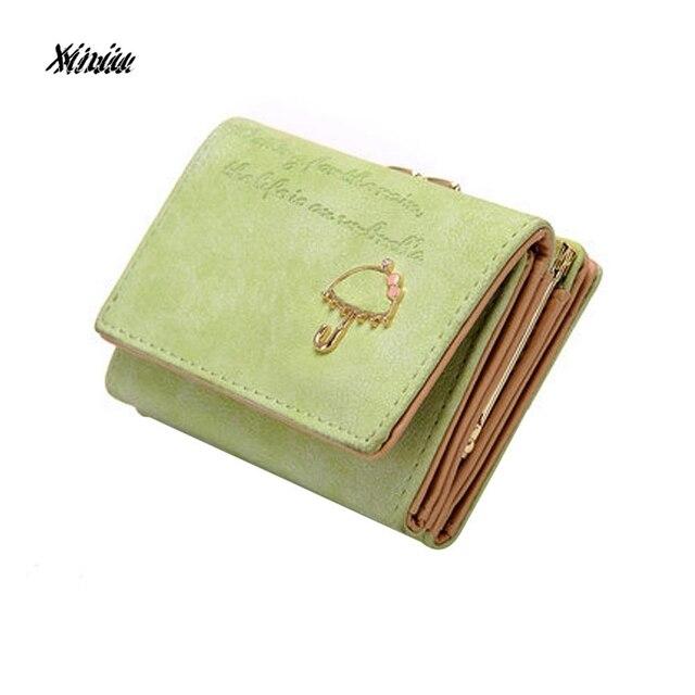 83472b8a260 Women Fashion Wallet Girls Cute Umbrella Leather Wallet Button Clutch Purse  Girl Short Handbag Bag Lady Zipper Billfold wallet