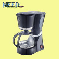 New High Quality Glass Coffee Pot Black Color Coffee Machine American Nescafe Drip Coffee Maker Machine