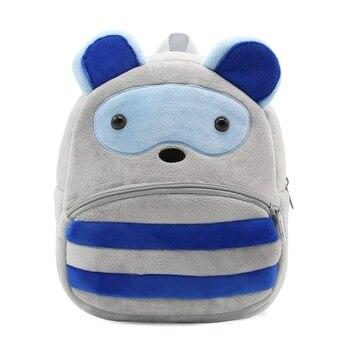 2020 Cartoon Kids Plush Backpacks Mini Kindergarten schoolbag Plush Animal Backpack Children School Bags Girls Boys Backpack - 07