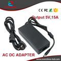 1Pcs AC 100-240V to DC 5V 15A Power Supply Adapter 5V 75W Switching Charger Adaptor Wholesale Lots High Quality