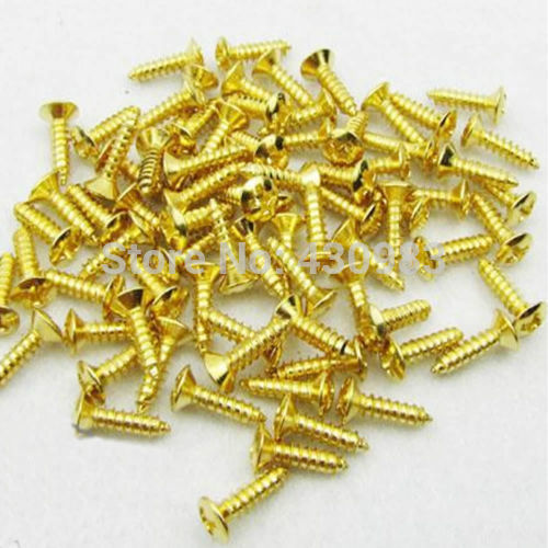 20pcs Guitar Pickguard Screws Tele Start Gold sg standard full face guitar pickguard scratch plate zebra stripe with screws