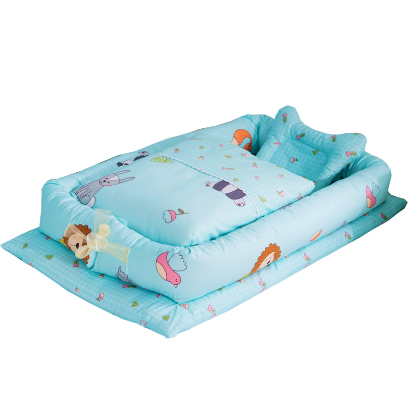 Newborn Foldable bed baby Infant Mattress Anti-runover Mini travel Portable bed Sleeping bag crib bed set supplies 100% CottonNewborn Foldable bed baby Infant Mattress Anti-runover Mini travel Portable bed Sleeping bag crib bed set supplies 100% Cotton