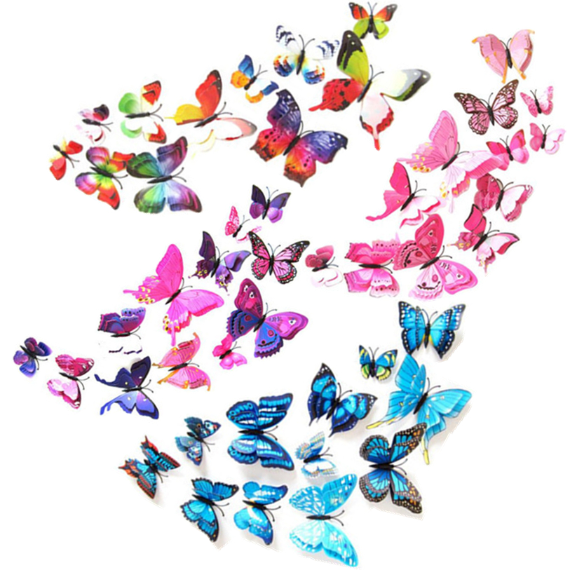 Creative Curtain 12Pcs/Pack Curtain Home Decor Butterfly Shape Sticker Pin For Home Decoration Fancy Curtain Flexible DEC 5TH
