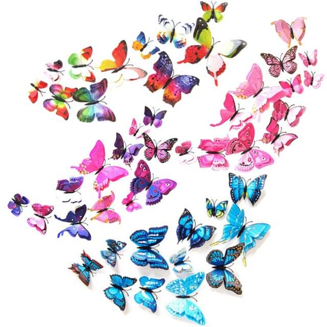 Creativo Tenda 12 pz/pacco Tenda Complementi Arredo Casa Farfalla Forma Sticker