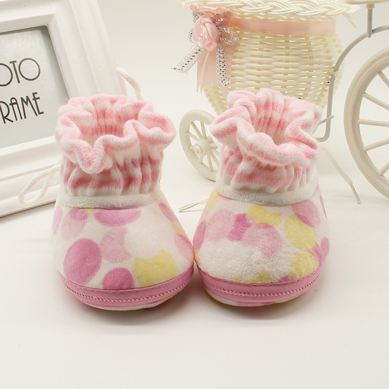 Newborn Baby Shoes Autumn Winter First Walkers Prewalker Baby Boy Toddler Pure Cotton Warm Feet Step Shoes New Arrival