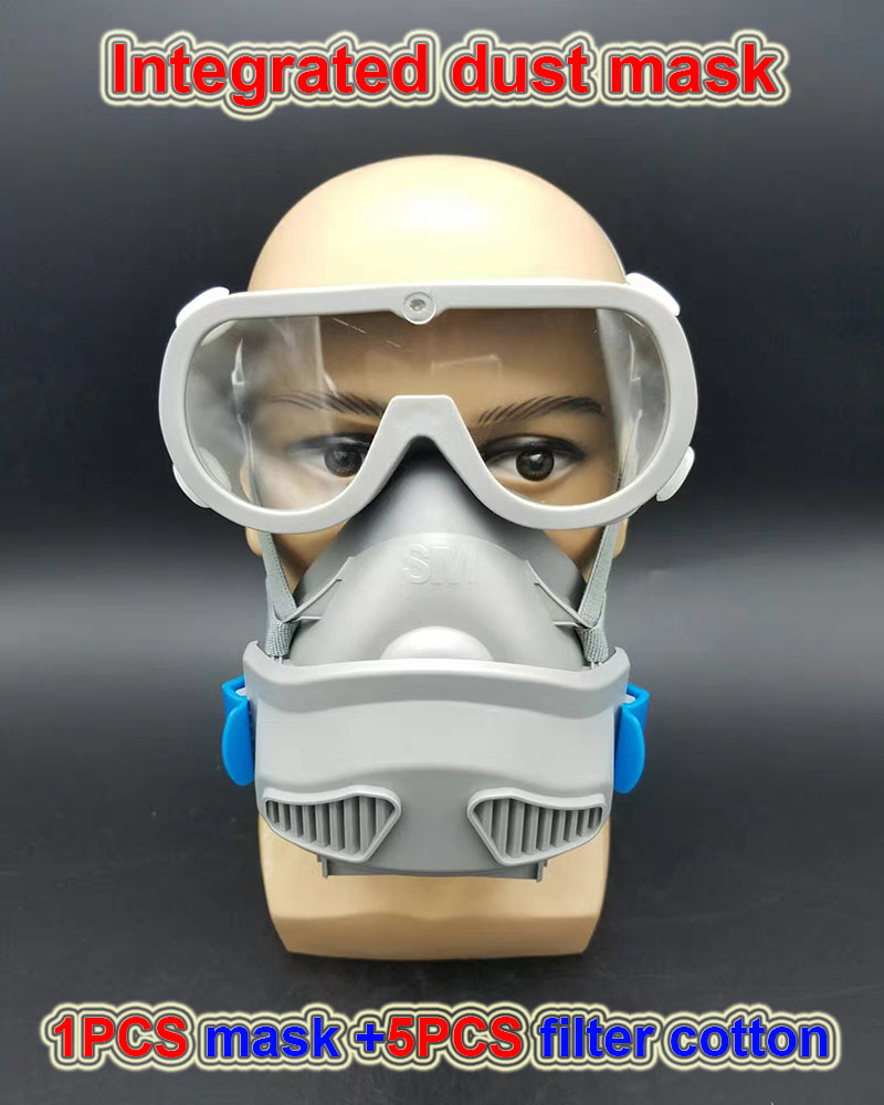 respirator dust mask PM2.5 High quality dust mask One-piece protection welding anti pollution N95 efficient respirator mask provide respirator dust mask high quality gray dust mask 10 piece filter cotton painting welding respiration mask