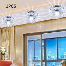 3W 10CM Crystal Lamp LED Ceiling Light Home Decoration Bedroom Living Room Hallway Kids Room Modern Luminaria