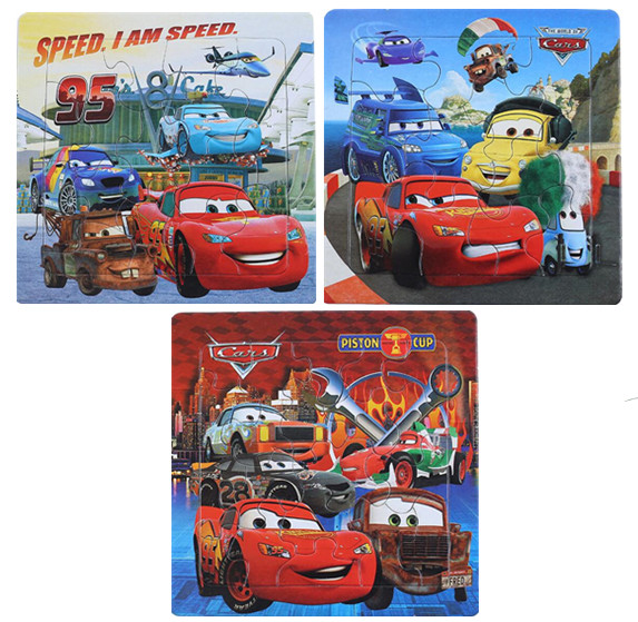 New Disney Car3 McQueen Mickey Minnie Snow Princess Theme Cartoon Puzzle Puzzle Early Learning Toy Children's Birthday Gift