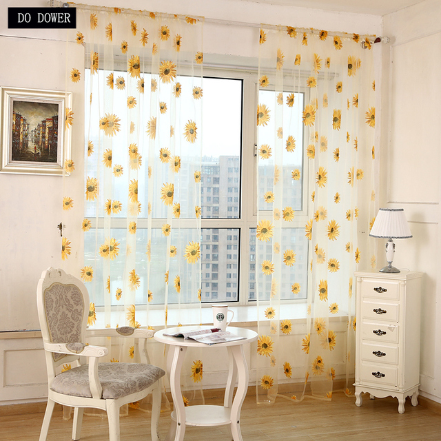 Sunflower Curtains Bedroom