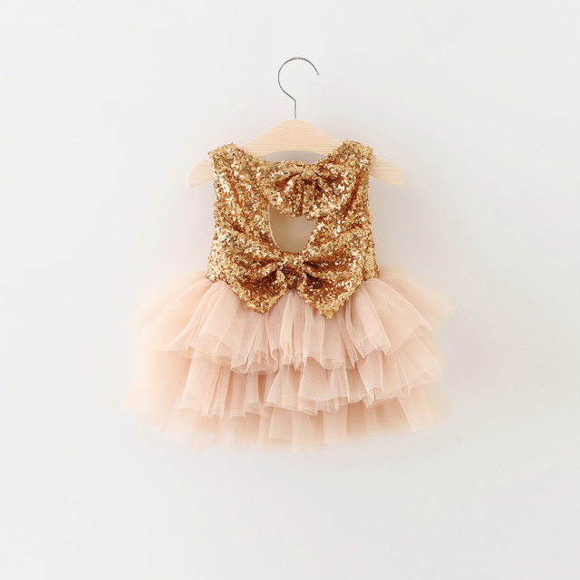 63d1b709a4dd Newborn Baby Girls Clothes Gold Dress For Baptism Christening Gown 1st 2nd Birthday  Outfits Infant Party Wear Tutu Kids Vestidos