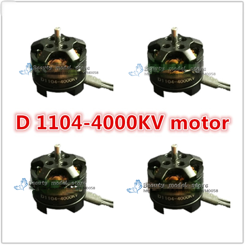 4PCS DIY FPV mini 1104 4000KV Brushless Motor (cw/ccw) For DIY PFV drones mini race quadcopter QAV130/QAV150 eplutus ep 1104 в тамбове