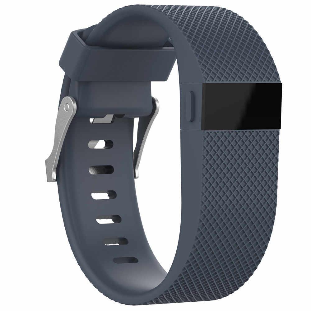 交換シリコーンバンドゴムストラップリストバンドブレスレットため Fitbits 充電時ドロップシップ jh0419